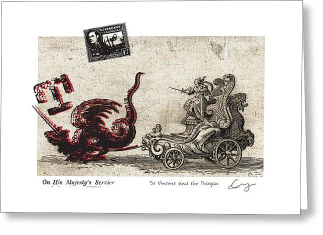 St Vincent And The Dragon Greeting Card