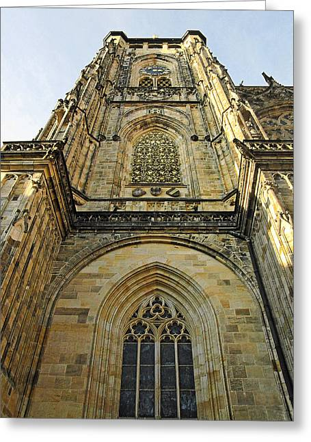 St Vitus Cathedral Prague - The Realms Of 'non-being' Greeting Card