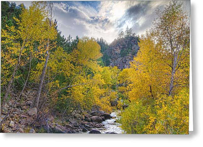 St Vrain Canyon Autumn Colorado View Greeting Card