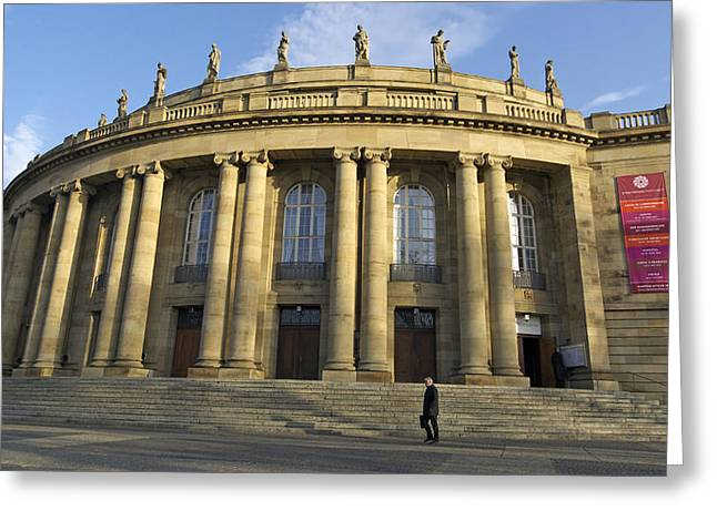 Staatstheater State Theater Stuttgart Germany Greeting Card by Matthias Hauser