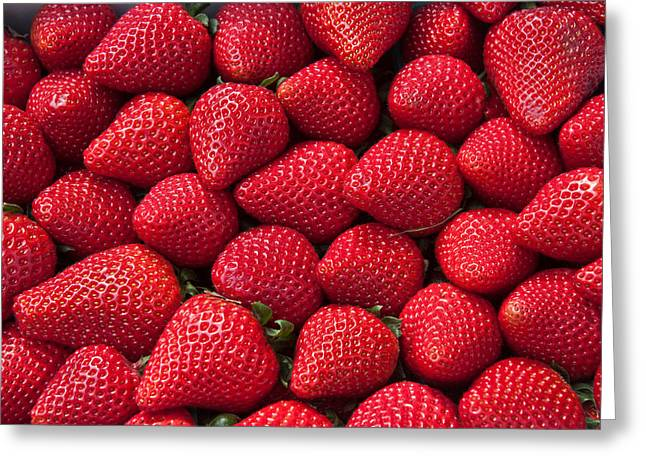 Stack Of Strawberries Greeting Card by Dina Calvarese