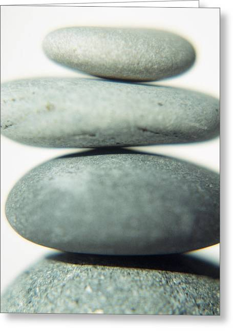 Stacked Pebbles Greeting Card by Cristina Pedrazzini