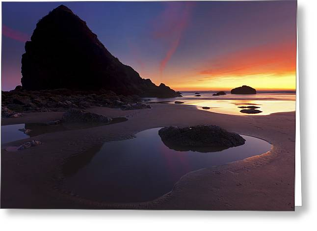Stacked Reflections Greeting Card by Mike  Dawson