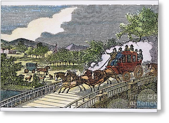 Stage Coach, 19th Century Greeting Card