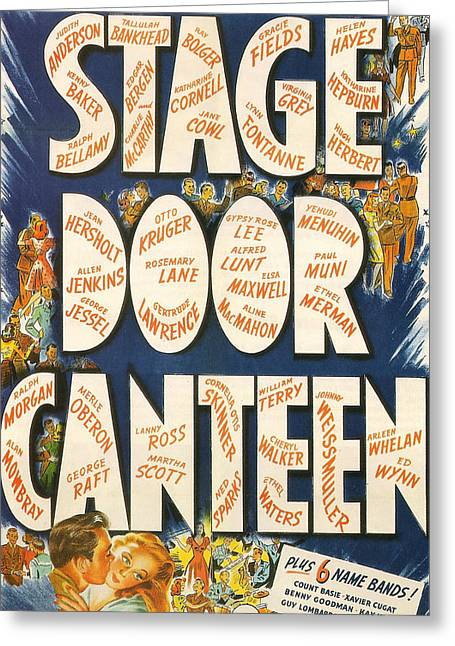 Stage Door Canteen Greeting Card