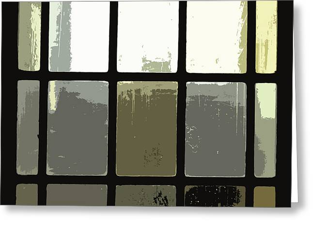Stained Glass Doors 2 Greeting Card by Peter  McIntosh