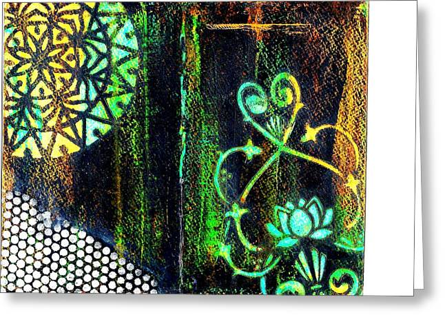 Stained Glass Greeting Card by Jann Sage