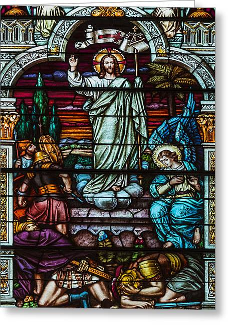 Stained Glass Jesus Greeting Card