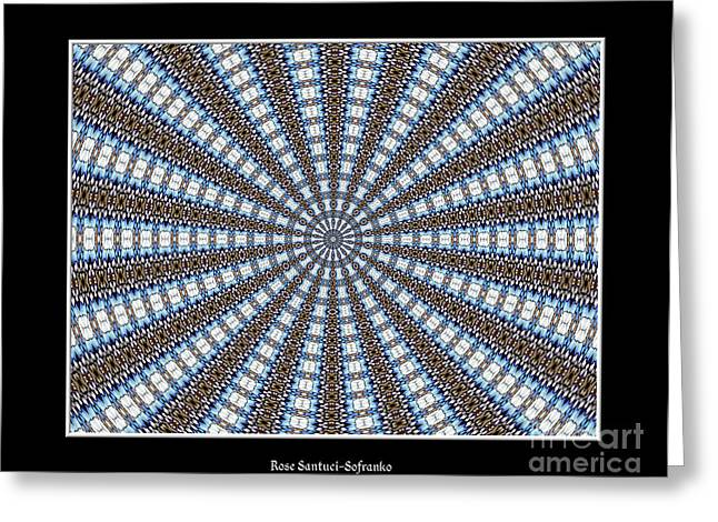 Stained Glass Kaleidoscope 32 Greeting Card by Rose Santuci-Sofranko