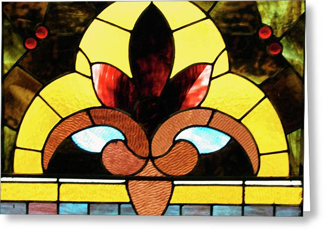 Stained Glass Lc 07 Greeting Card by Thomas Woolworth