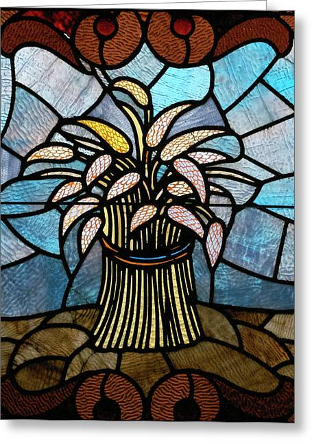 Stained Glass Lc 11 Greeting Card by Thomas Woolworth