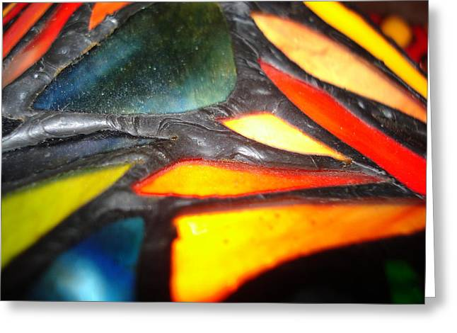 Stained Glass One Greeting Card