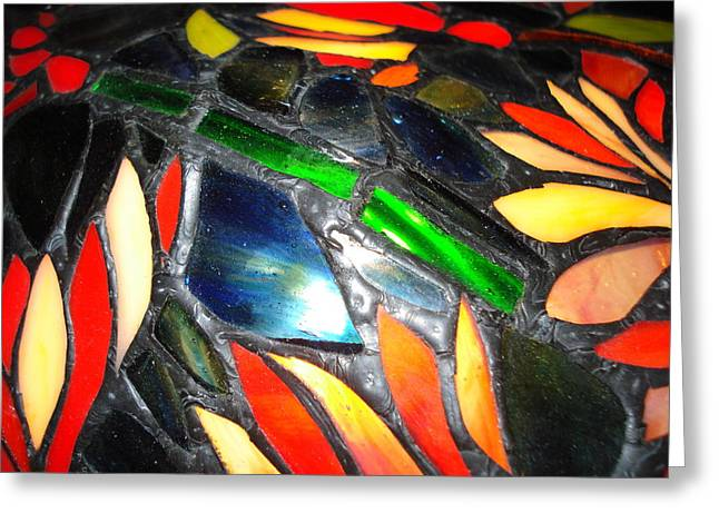 Stained Glass Three Greeting Card