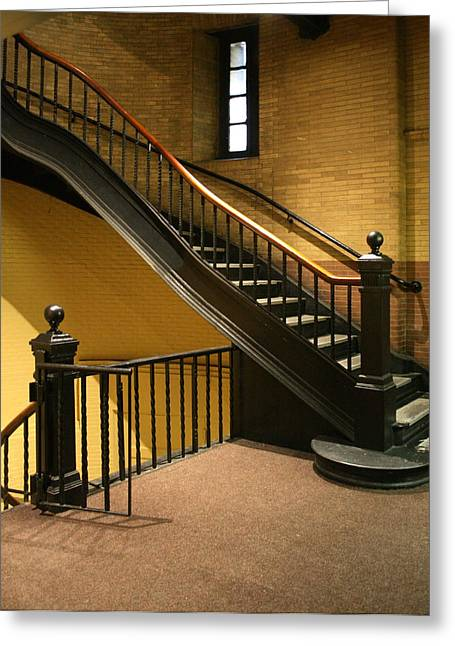 Staircase In The Boston Armory Greeting Card