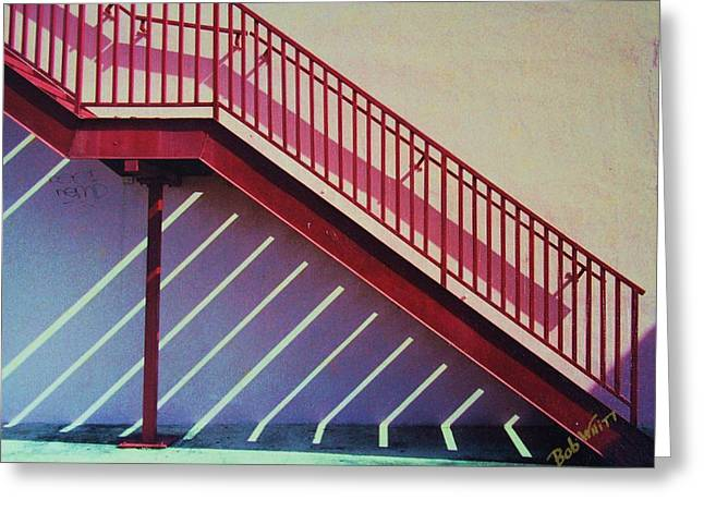 Staircase On A Wall Greeting Card by Bob Whitt