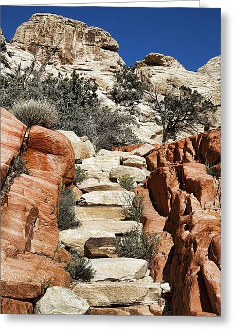 Staircase Stones Greeting Card by Kelley King