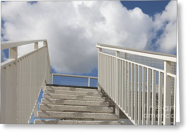 Stairs And Clouds Greeting Card by Jaak Nilson