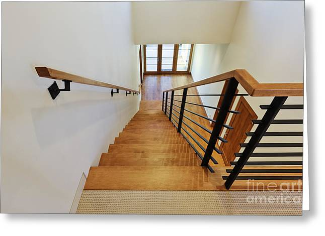 Stairs In A Modern Home Greeting Card
