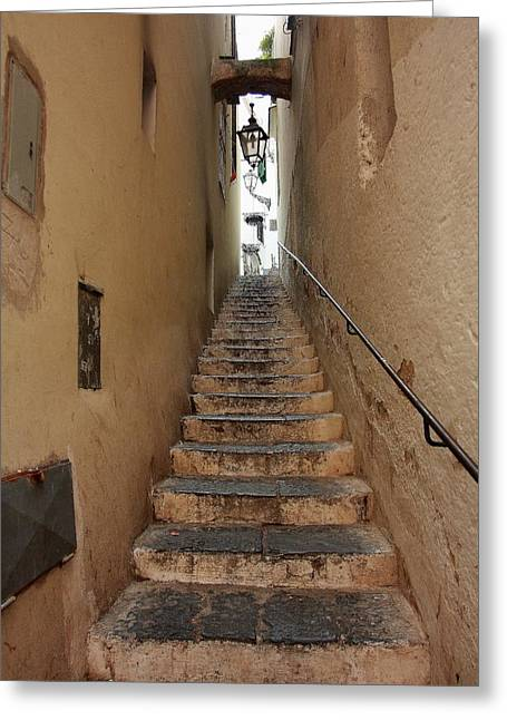 Stairs Italian Greeting Card by Ryszard Unton