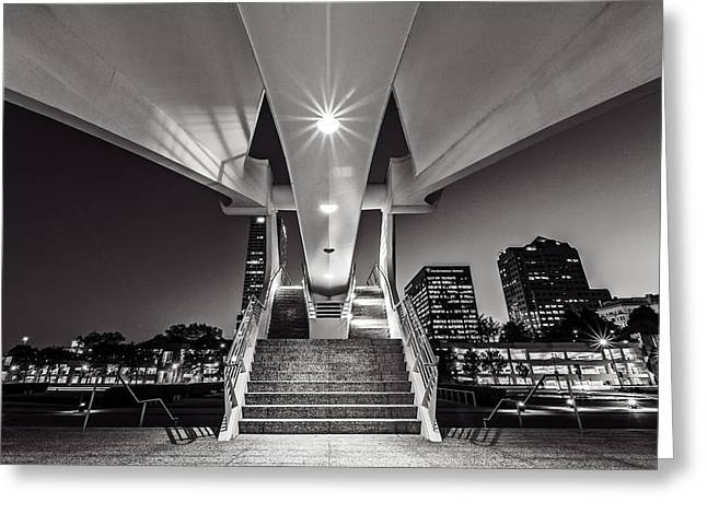 Stairs Of Art Greeting Card by CJ Schmit
