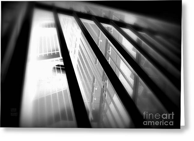 Stairway Black And White Greeting Card