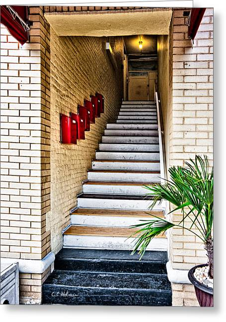 Stairway Greeting Card by Christopher Holmes