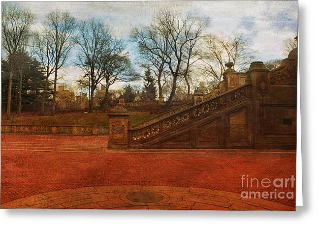 Stairway In Central Park Greeting Card