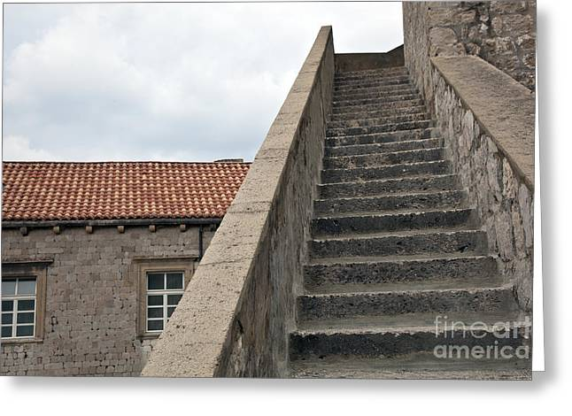 Stairway In Dubrovnik Greeting Card by Madeline Ellis