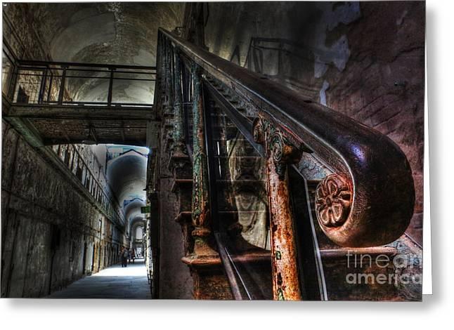 Stairway Of Terror - Eastern State Penitentiary Greeting Card by Lee Dos Santos