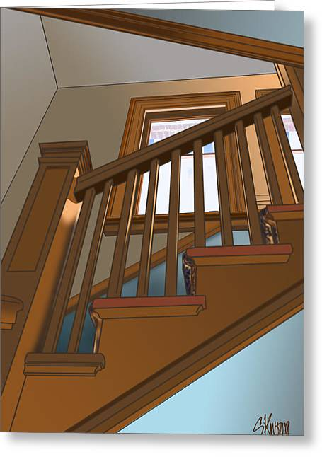 Stairway To 2nd Floor Greeting Card