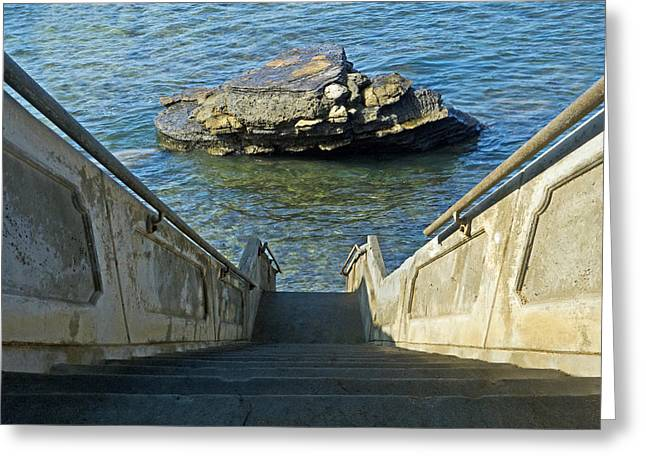 Stairway To Magic Island Greeting Card by David Rearwin