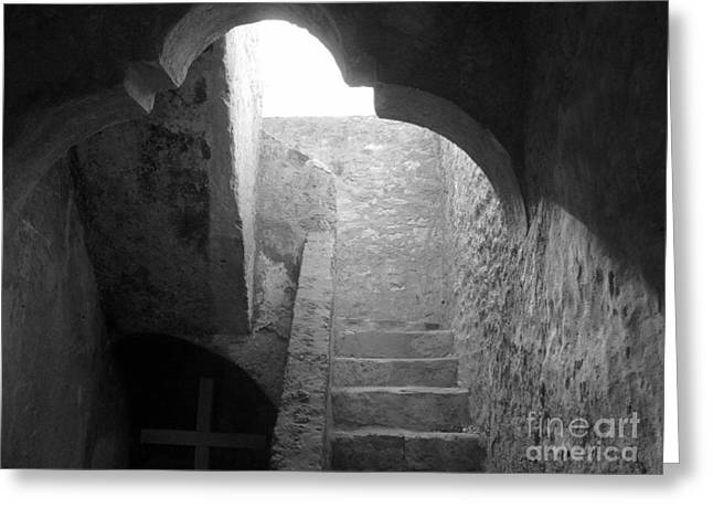 Stairway To The Sky Greeting Card by Keith Kapple