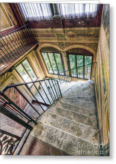 Stairways Greeting Card by Andreas Jancso