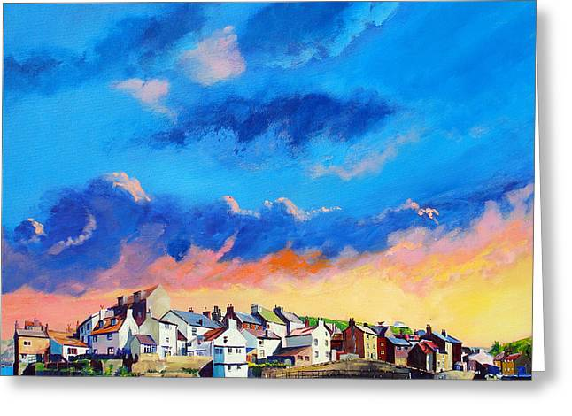 Staithes At Sundown Greeting Card by Neil McBride