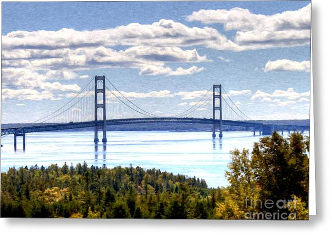 Staits Of Mackinac Greeting Card