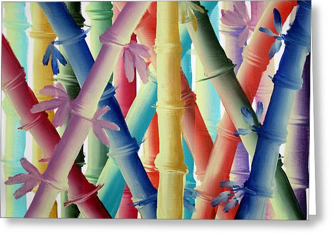Stalks Of Color Greeting Card