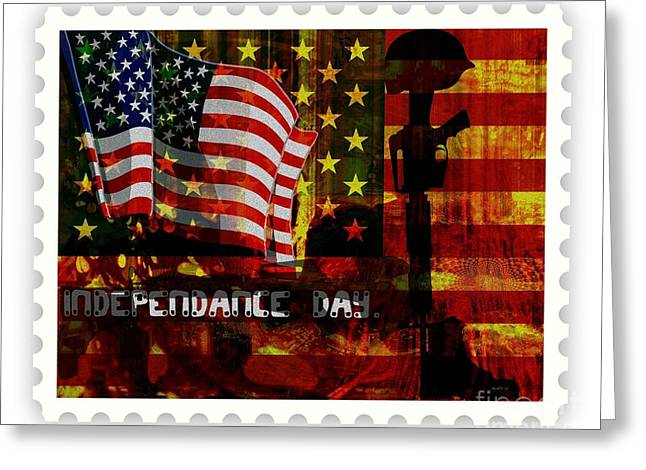 Stamp Your Freedom  Greeting Card by Fania Simon