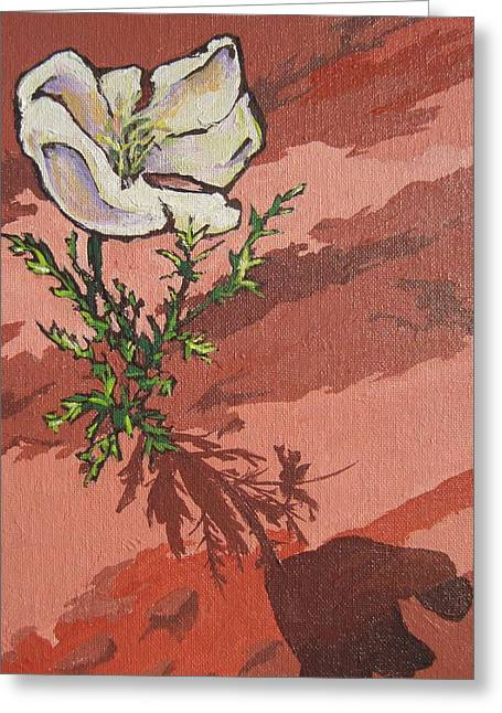 Standing Alone Greeting Card by Sandy Tracey