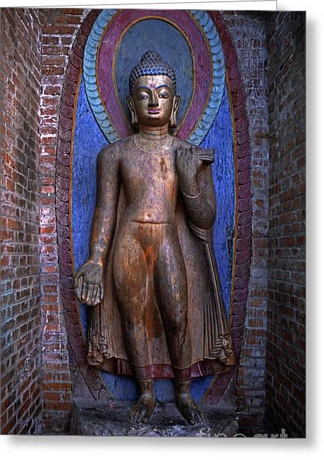 Standing Buddha - Nepal Greeting Card by Craig Lovell