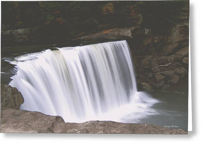 Greeting Card featuring the photograph Standing In Motion  Cumberland Falls 01 by George Bostian
