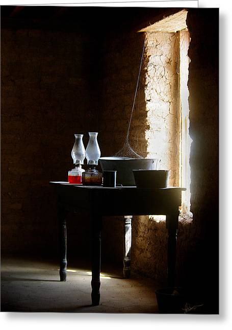 Greeting Card featuring the photograph Standing In The Shadow Of Time by Vicki Pelham