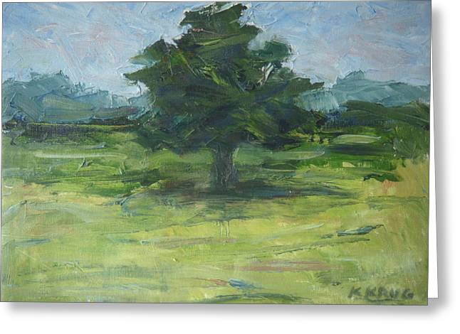 Standing Tree Greeting Card by Ken Krug