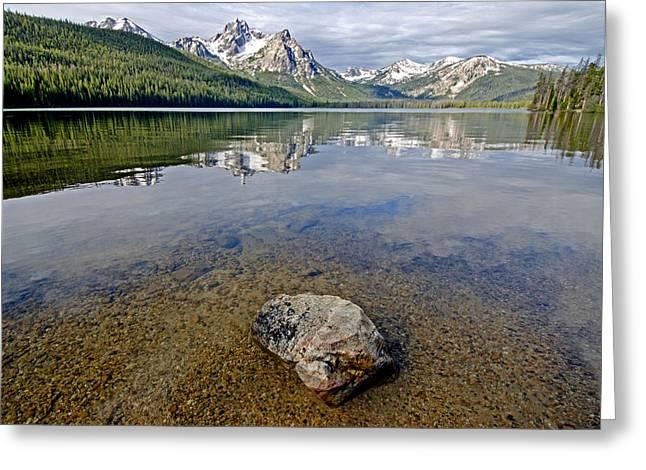 Stanley Lake Greeting Card by Elijah Weber
