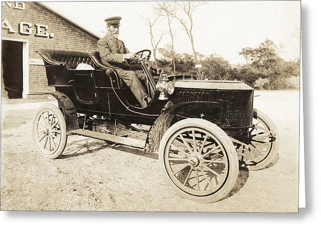 Stanley Steamer Car, 1906 Greeting Card by Photography Collection, Mirian And Ira D Wallach Division Of Art, Prints And Photographshumanities And Social Sciences Librarynew York Public Library