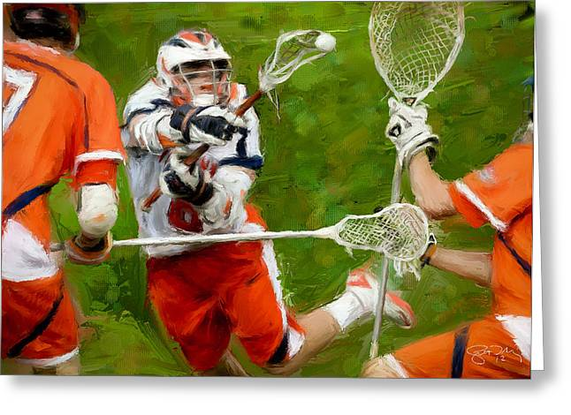 Stanwick Lacrosse 2 Greeting Card by Scott Melby