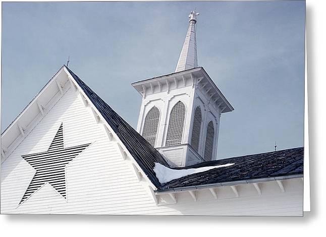 Star Barn Roof Greeting Card
