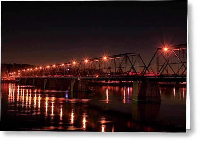Star Bridge Greeting Card by Deborah  Crew-Johnson