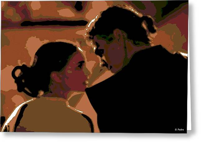 Star Crossed Lovers Greeting Card