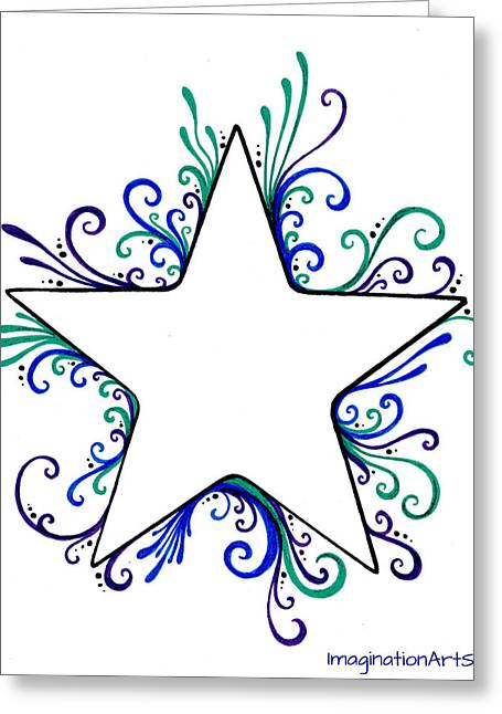 Star Flair Greeting Card