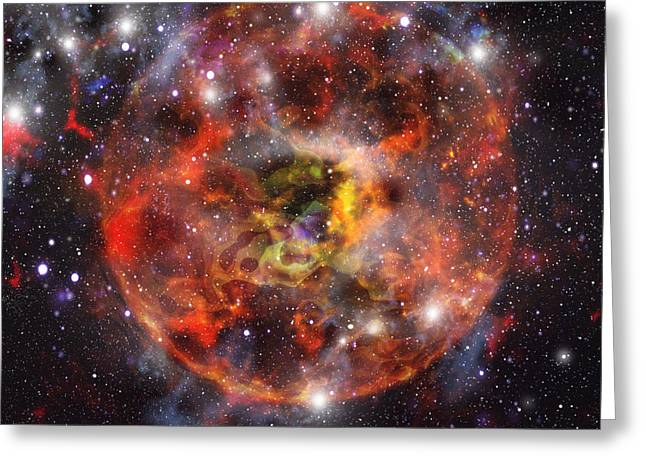 Star Formation, Computer Artwork Greeting Card